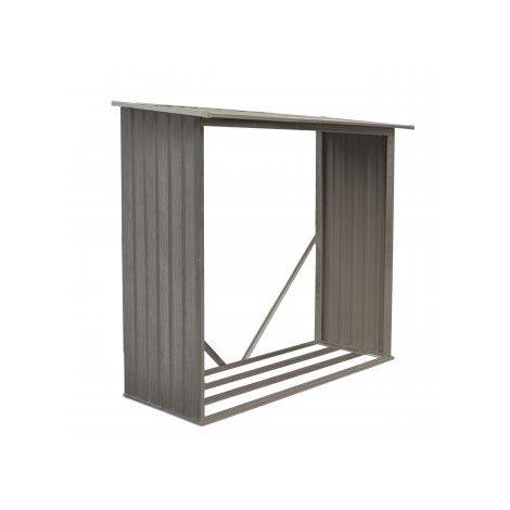 Bûcher en métal aspect BOIS VIEILLI® - 1,37 m²