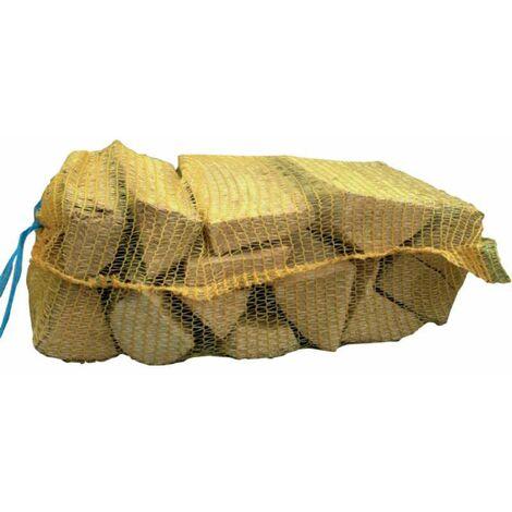 Bûches de bois de 31cm en filet de 25 litres Flamino