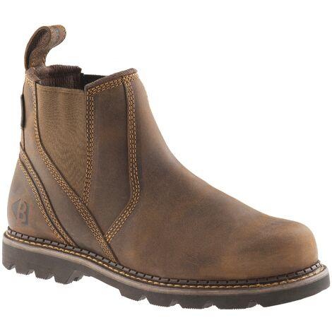 Buckbootz B1500 Non Safety Dealer Boots Dark Brown (Sizes 6-13) Men's Shoes