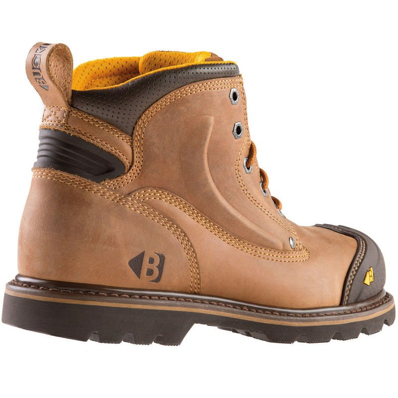799d26d79a0 Buckler B550SM Anti-Scuff Safety Work Boots Autumn Oak Leather (Sizes 6-13)  Mens