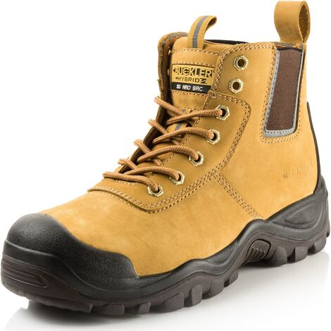 Buckler BHYB2HY Anti-Scuff Safety Work Boots Tan Honey (Sizes 6-13) Men's