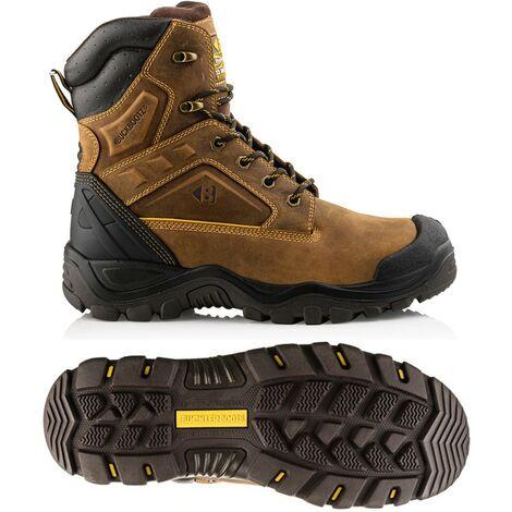 "main image of ""Buckler Boots Buckshot 2 Safety Work Boot Leather Waterproof High Leg UK Size 6"""