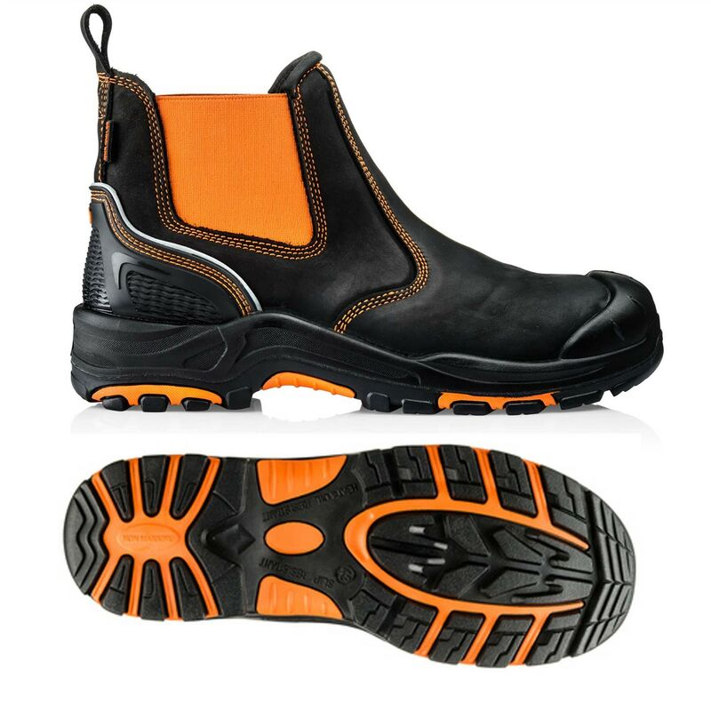 Image of Buckler Boots BuckzViz High Viz Orange Dealer Safety Work Boots UK Sizes 10