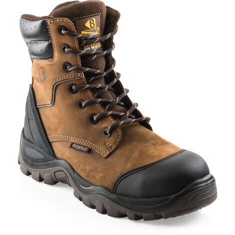 db79b9b8e8f Buckler BSH008WPNM High Leg Waterproof Safety Work Boots Brown (Sizes 6-13)
