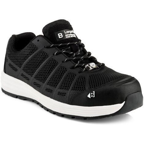 Buckler KEZ Safety Work Trainer Shoes Black (Sizes 6-13) Men's Steel Toe Cap
