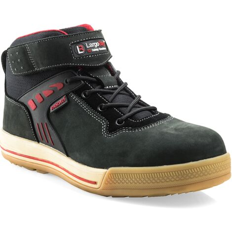 Buckler Largo Bay High-Top Safety Work Trainer Boots Black (Sizes 6-13) Men's