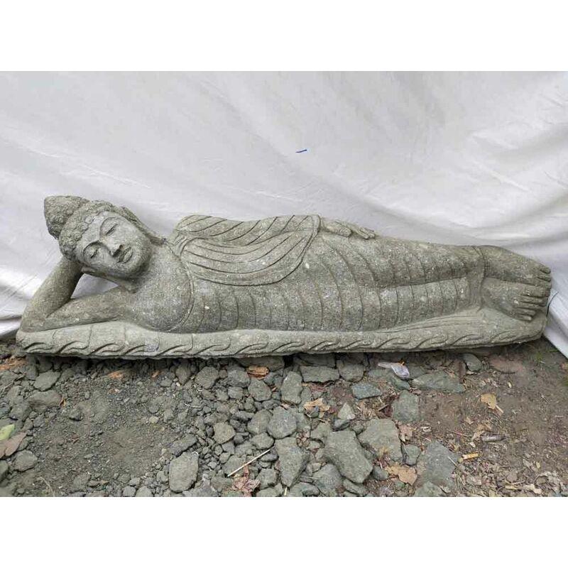 Wanda Collection - Buda tumbado estatua de piedra volcánica de jardín 150 cm