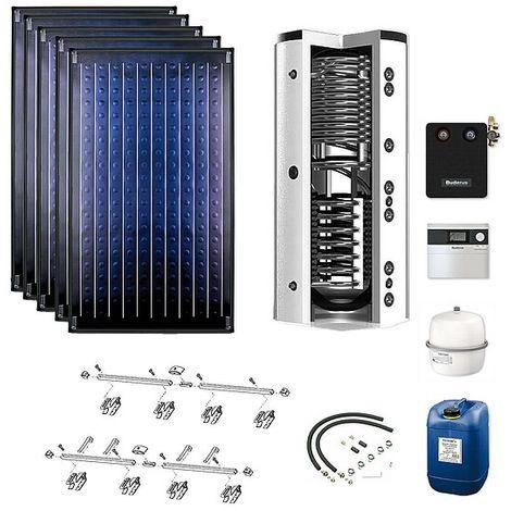 Buderus Solarpaket Logaplus S76, 5 x SKN 4.0 Kollektoren mit Zubehörpaket und 750 l Speicher
