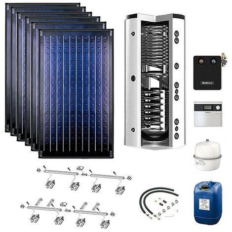 Buderus Solarpaket Logaplus S76, 6 x SKN 4.0 Kollektoren mit Zubehörpaket und 1.000 l Speicher