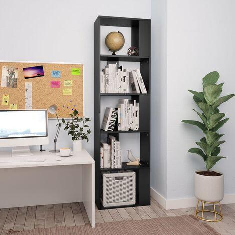 Bücherregal/Raumteiler Schwarz 45×24×159 cm Spanplatte
