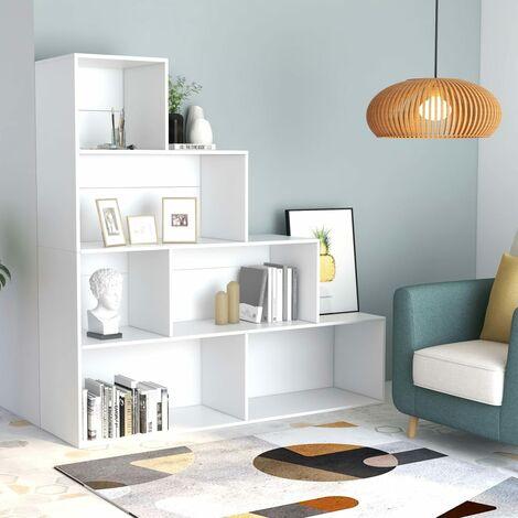 Bücherregal/Raumteiler Weiß 155 x 24 x 160 cm Spanplatte