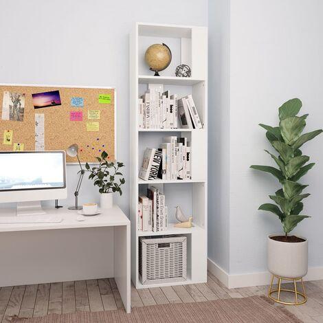Bücherregal/Raumteiler Weiß 45×24×159 cm Spanplatte