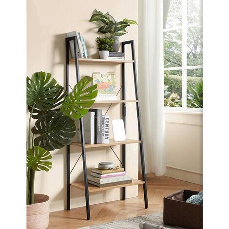 Bücherregal Standregal 4 Ebenen, Standregal, Für Wohnzimmer Schlafzimmer Küche Vintage 60x35x148cm