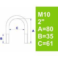 """Bügelschraube, ohne Zubehör, 2"""" (60,3 mm) - M10"""