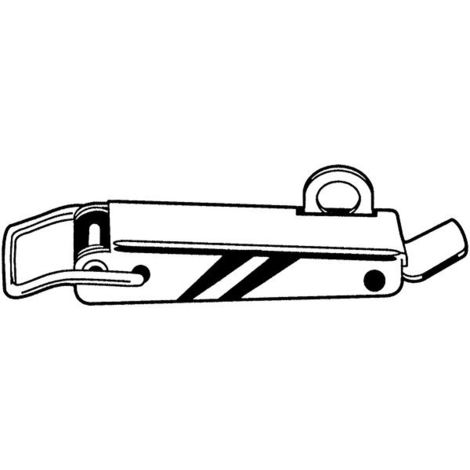 Bügelverschlüsse Stahl verzinkt 2.45.00.04/6 10Stk