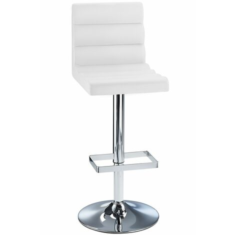 Buena Height Adjustable Kitchen Breakfast Bar Stool Faux Leather