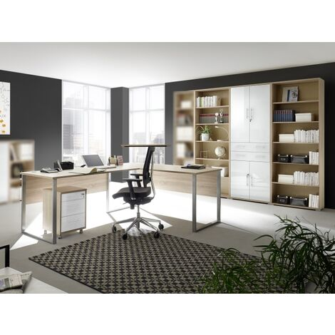Büromöbel Office Line Luxo Eiche 5 teilig II