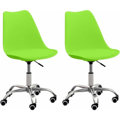Bürostühle 2 Stk. Grün Kunstleder