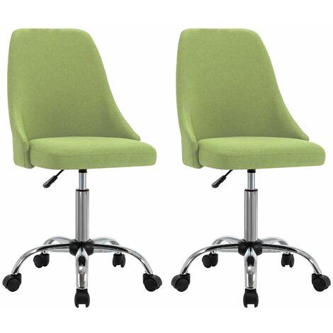 Bürostühle 2 Stk. Grün Stoff