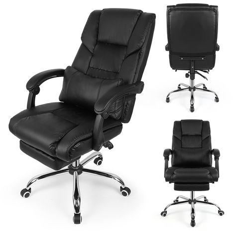 Bürostuhl Chefsessel Drehstuhl Bürosessel Gaming Schreibtischstuhl Schwarz