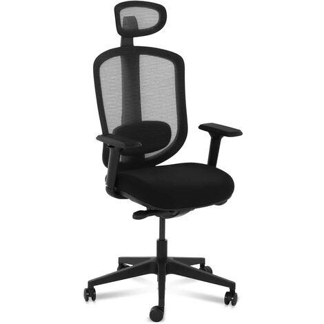 Bürostuhl ergonomisch Drehstuhl Schreibtischstuhl Kopf- und Lordosenstütze 150kg