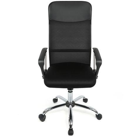 Bürostuhl | Ergonomische Bürostühle|Computer Stuhl mit Armlehne, Netzrücken Höhenverstellbar (122~130cm) Schwarz