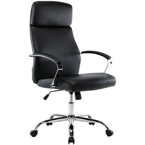 Bürostuhl Faro XL-schwarz-Kunstleder