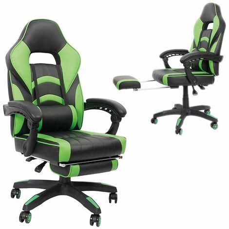 Bürostuhl Gaming Stuhl Racing Stuhl Schreibtischstuhl Drehstuhl Chefsessel Schwarz Gün