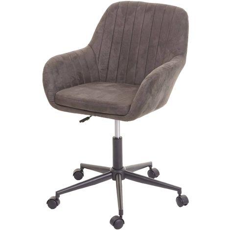 Bürostuhl HHG 098, Drehstuhl Schreibtischstuhl Lehnstuhl Stuhl, StoffTextil mit Armlehne