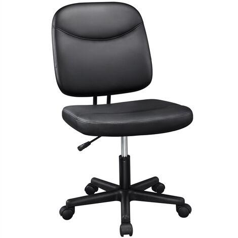 Bürostuhl Kunstleder Drehstuhl Schreibtischstuhl Chefsessel Computerstuhl Arbeitsstuhl Armloser Schwarz