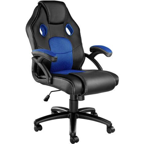 Bürostuhl Mike - Gaming Sessel, Zockersessel, Computerstuhl - schwarz/blau - negro/azul