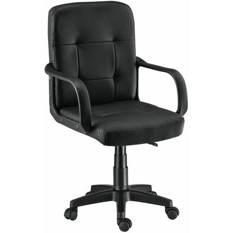 Bürostuhl Pensacola ergonomisch mit Armlehnen & Rollen – Schreibtischstuhl höhenverstellbar bis 120 kg belastbar – Office Drehstuhl Schwarz | ArtLife