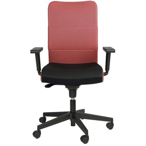 Bürostuhl Rollen Stuhl Rollstuhl Armlehnen Drehstuhl Montana Plus Mafra TS25 R19T Rot Schwarz