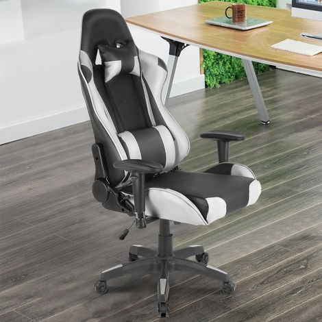 Bürostuhl Schreibtischstuhl Chefsessel Drehstuhl Ergonomischer stuhl PU Weiß
