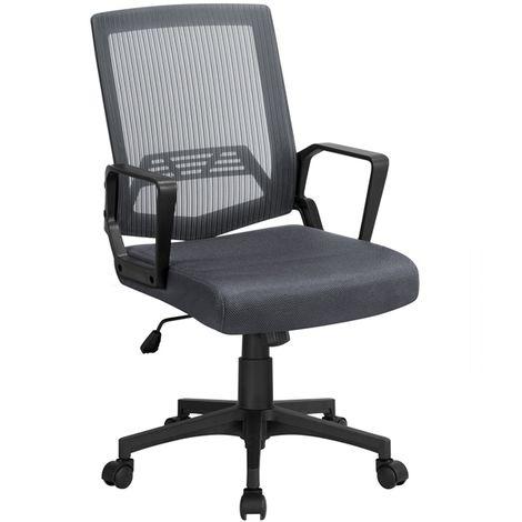 Bürostuhl, Ergonomischer Drehstuhl, Mesh Schreibtischstuhl netzdesign Höhenverstellung und Wippenfunktion mit rollen