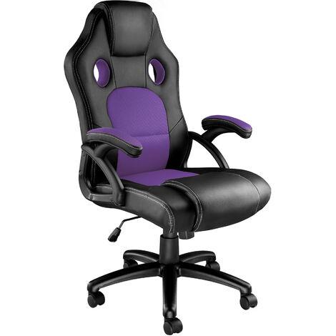 Bürostuhl Tyson - Gaming Sessel, Zockersessel, Computerstuhl - schwarz/lila - negro/lila