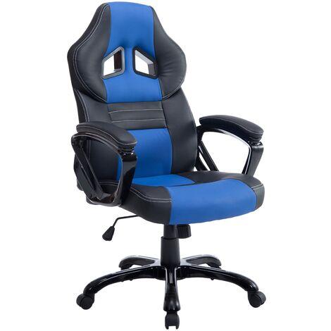 Bürostuhl XL Pedro-schwarz/blau