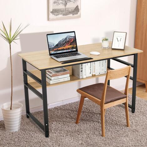 Bürotisch Holz Büro-Schreibtisch Zeichnung Tabelle verstellbare Computer-Schreibtisch neigbar mit Lagerung Regal