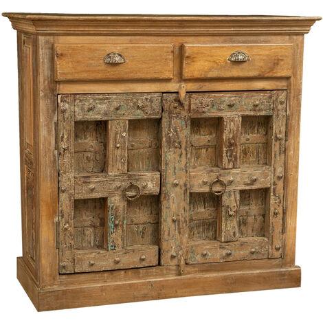 Buffet, armoire, en bois massif recyclé avec finition antique.