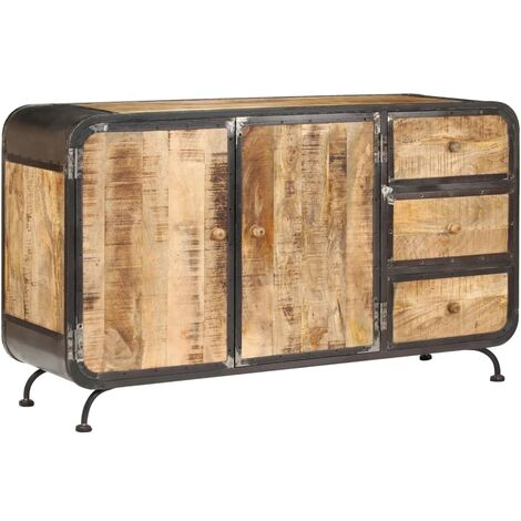 Buffet bahut armoire console meuble de rangement 140 cm bois de manguier massif - Bois