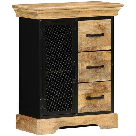 Buffet bahut armoire console meuble de rangement 75 cm bois de manguier massif - Bois