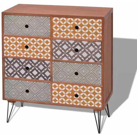 Buffet bahut armoire console meuble de rangement de rangement avec 8 tiroirs marron - Marron