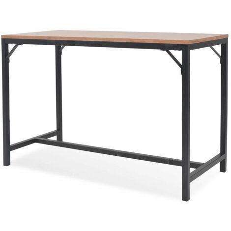 Buffet bahut armoire console meuble de rangement frêne 119 cm beige - Beige