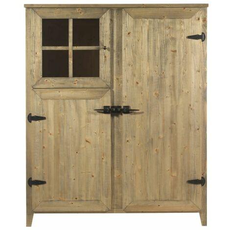 Buffet en bois avec 3 portes et 4 étagèr cm 138x64x168 Guarnieri MALVA