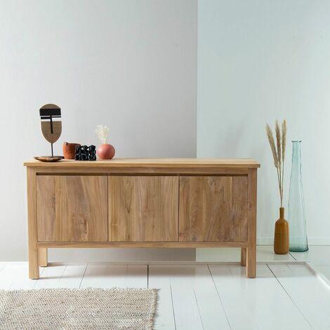 Buffet en bois de teck 150 cm - Naturel