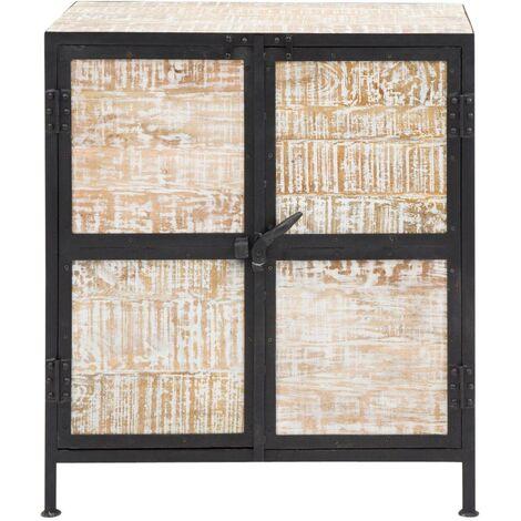 Buffet industriel métal et bois, 2 portes