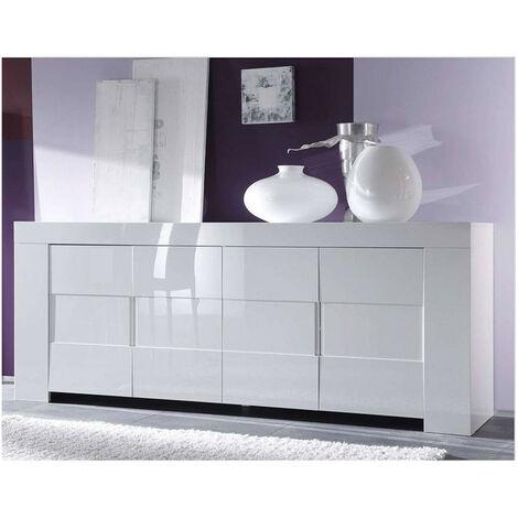 Buffet ZEOS 210 cm blanc - Blanc