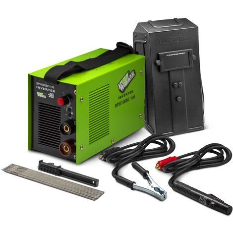 BUILD WORKER BPSI100BC-10E - Soldador inverter de 100 A completo con accesorios, mascarilla y electrodos