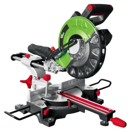 BUILD WORKER BRMS1802-254LA - Troncatrice radiale con puntamento laser. Potenza 1800W