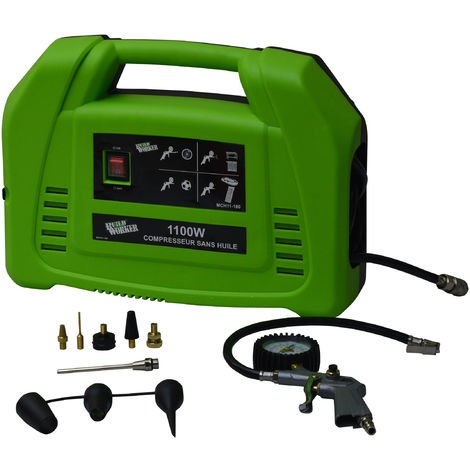 BUILD WORKER MCH11-180 - Compressore senza serbatoio 1100W e accessori